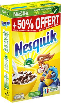 NESQUIK Céréales Petit Déjeuner 500g + 50% - Product - fr