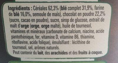 Chocapic (+50% gratuit) - Ingrediënten