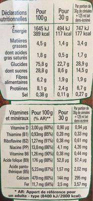 Chocapic (+50% gratuit) - Voedingswaarden