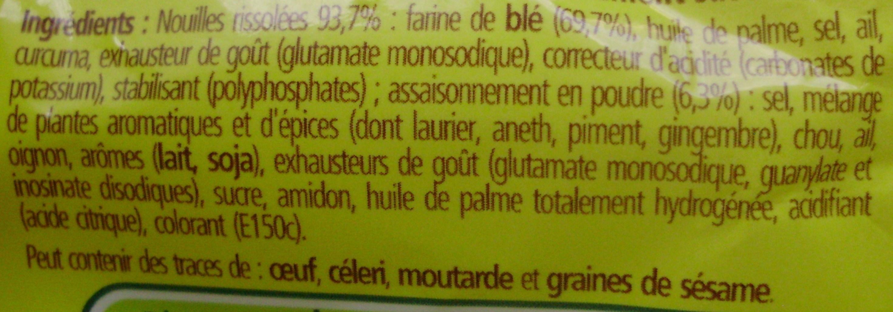 Nouilles au Bœuf - Ingredients