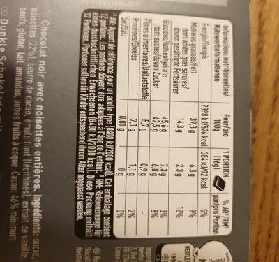 Crémant noisettes entières - Ingrediënten