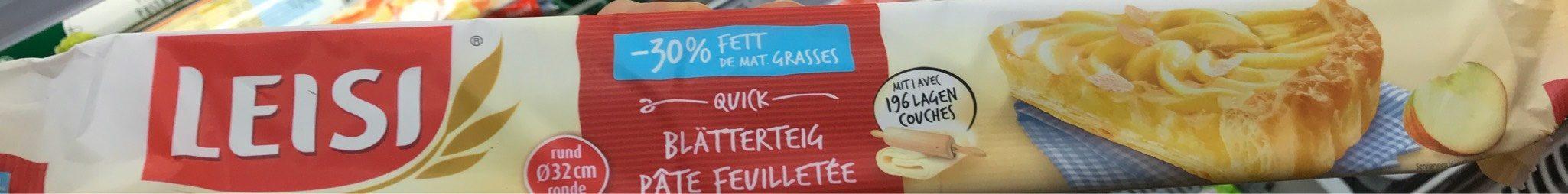 Pâte Feuilletée Rond -30% Mg 230 G - Product - fr