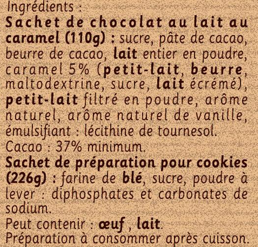 Préparation pour Cookies au Chocolat Caramel - Ingrédients - fr