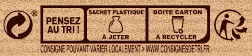 Préparation pour Cookies au Chocolat Caramel - Instruction de recyclage et/ou informations d'emballage - fr