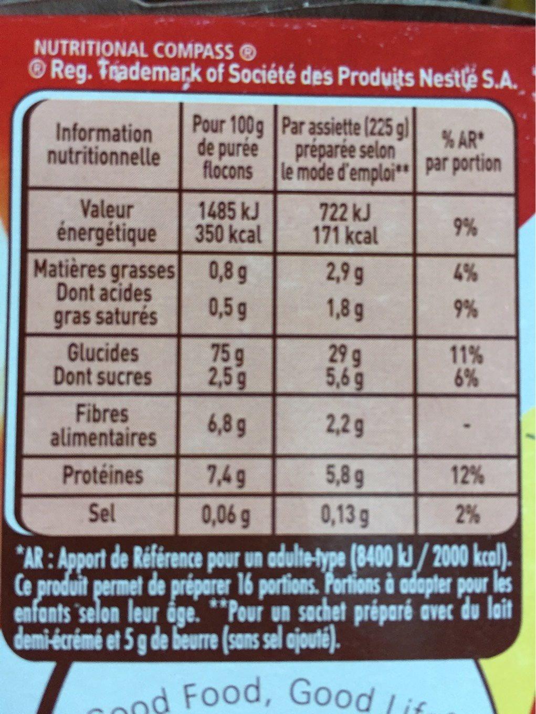 Mousline l'Originale - Nutrition facts - fr