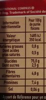 MOUSLINE Purée Nature, 8 sachets pour 4 personnes (8x130g) - Nutrition facts - fr