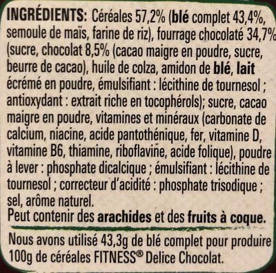 Fitness delice - Ingredients - fr