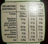 Fitness delice - Informations nutritionnelles - fr