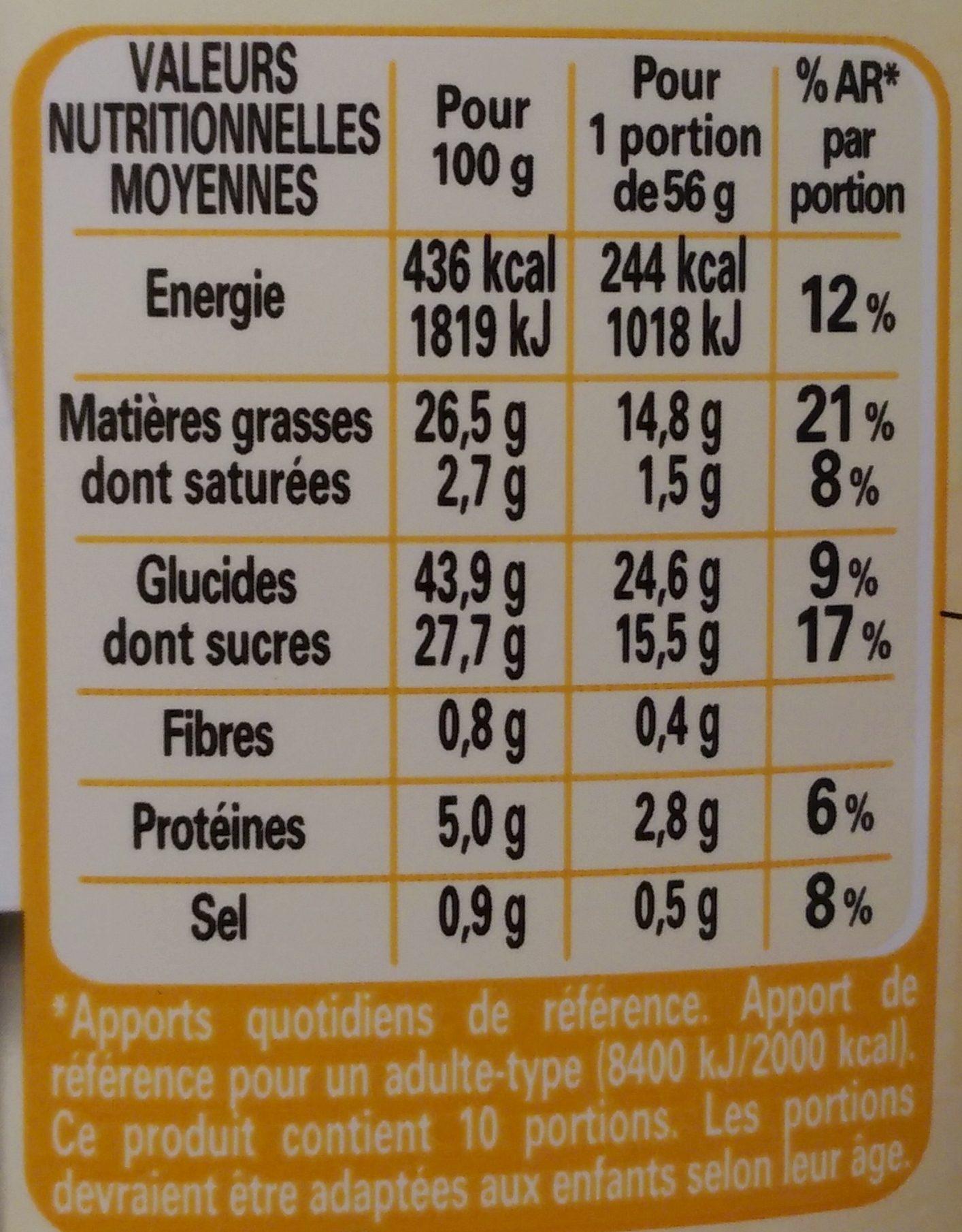 Préparation Gâteau Nature À Ma Façon - Nutrition facts - fr