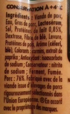 Knacki® Original 100 % Pur Porc - Ingrediënten