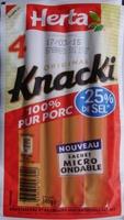 4 Original Knacki, 100 % Pur Porc (- 25 % de Sel) - Produit - fr