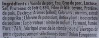 4 Original Knacki, 100 % Pur Porc (- 25 % de Sel) - Ingredients