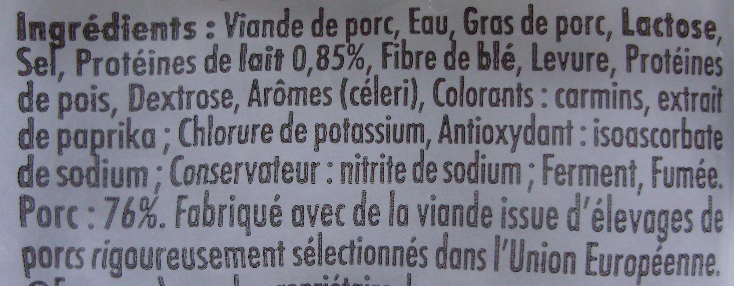 4 Original Knacki, 100 % Pur Porc (- 25 % de Sel) - Ingrédients - fr