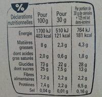 NESTLE CRUNCH céréales 750g ? - Informazioni nutrizionali - fr