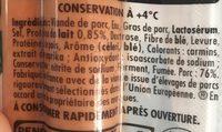 Knacki - Ingredients - fr