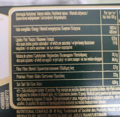 After Eight 200G Nestle - Información nutricional - en