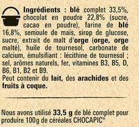 NESTLE CHOCAPIC Céréales Petit Déjeuner - Ingredienti - fr