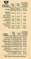 NESTLE CHOCAPIC Céréales Petit Déjeuner - Información nutricional - fr