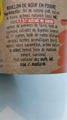 BOUILLON Boeuf - Ingredienti - fr