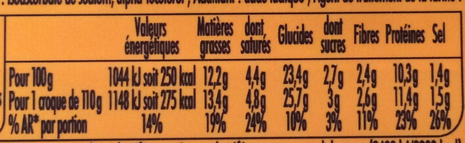Tendre Croque Chef Pain de Campagne Moutarde à l'Estragon Cantal Jambon - Informations nutritionnelles - fr
