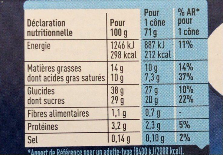Extrême vanille de Madagascar - Informations nutritionnelles - fr