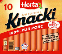 KNACKI Original saucisses pur porc -25% sel - Product - fr