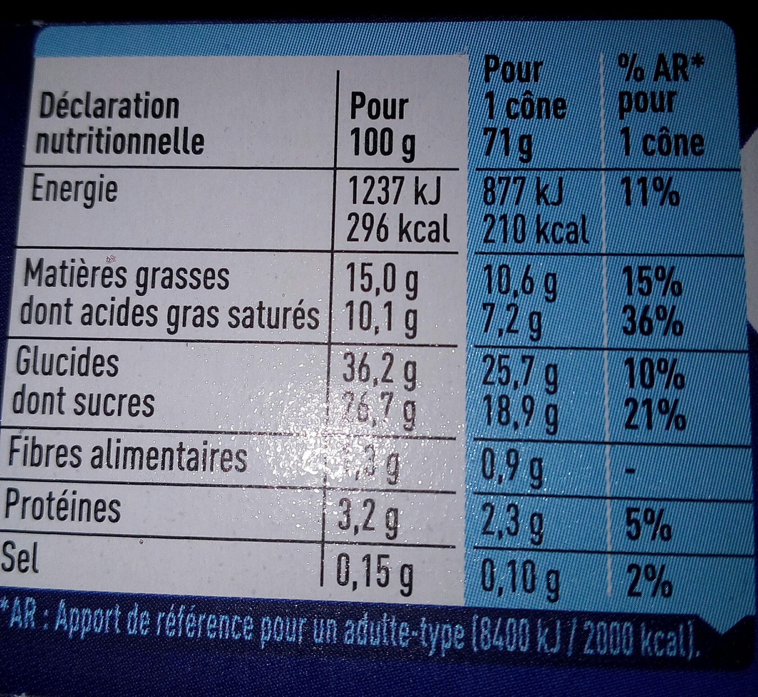 Extrême original vanille pepites de nougatine - Informations nutritionnelles - fr