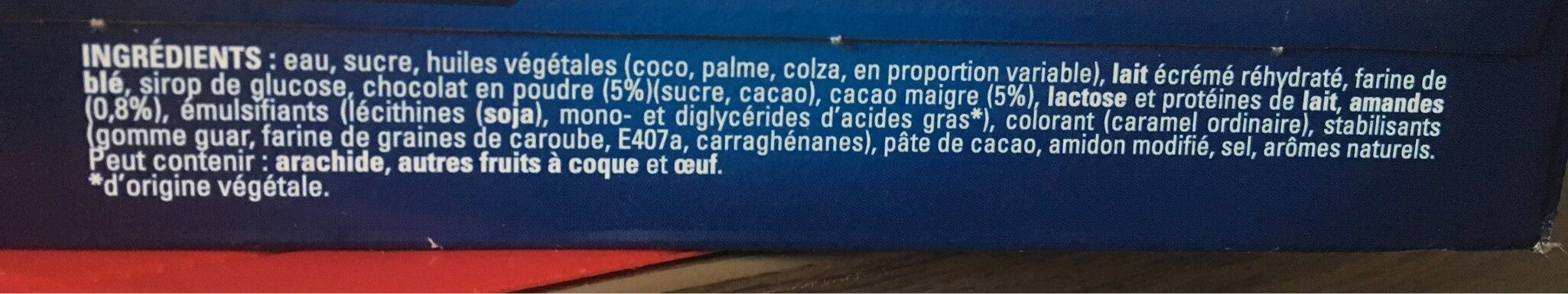 Extrême Chocolat - Ingrédients - fr