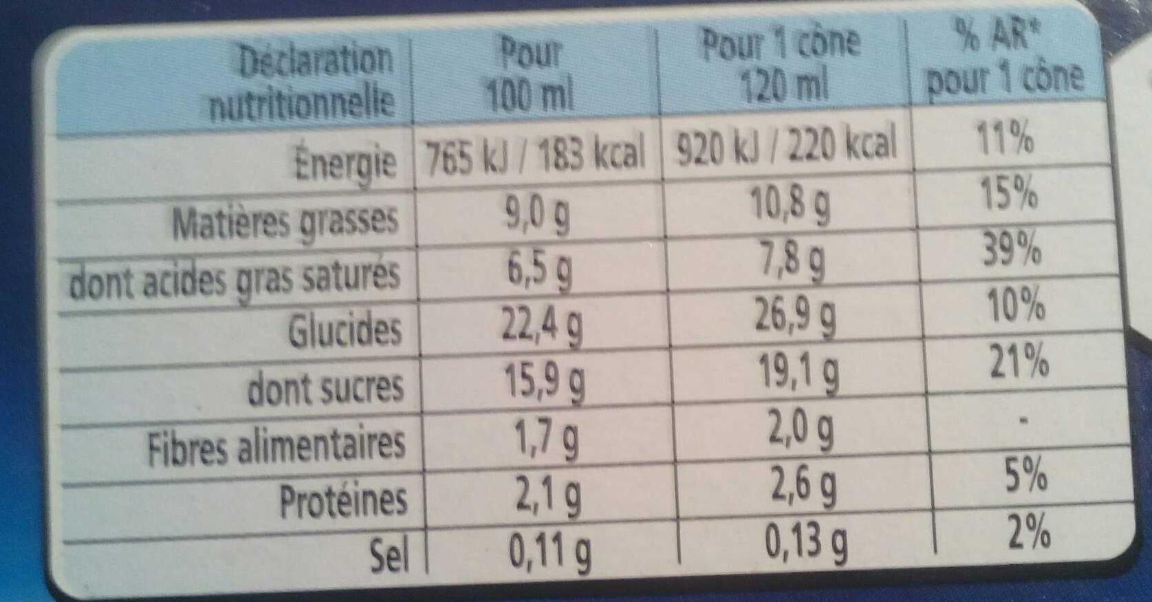 Extrême Chocolat - Informations nutritionnelles - fr