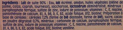 P'tit Déj Saveur Chocolat au Lait - Ingredients - fr