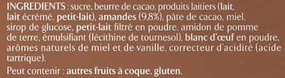 Chocolat au Lait et Nougat - Ingredienti - fr