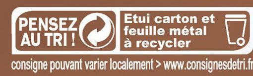 Chocolat au Lait et Nougat - Istruzioni per il riciclaggio e/o informazioni sull'imballaggio - fr