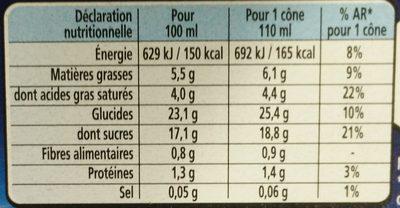 Extrême Collection Délice Fruits Rouges Glace Veloutée - Informations nutritionnelles