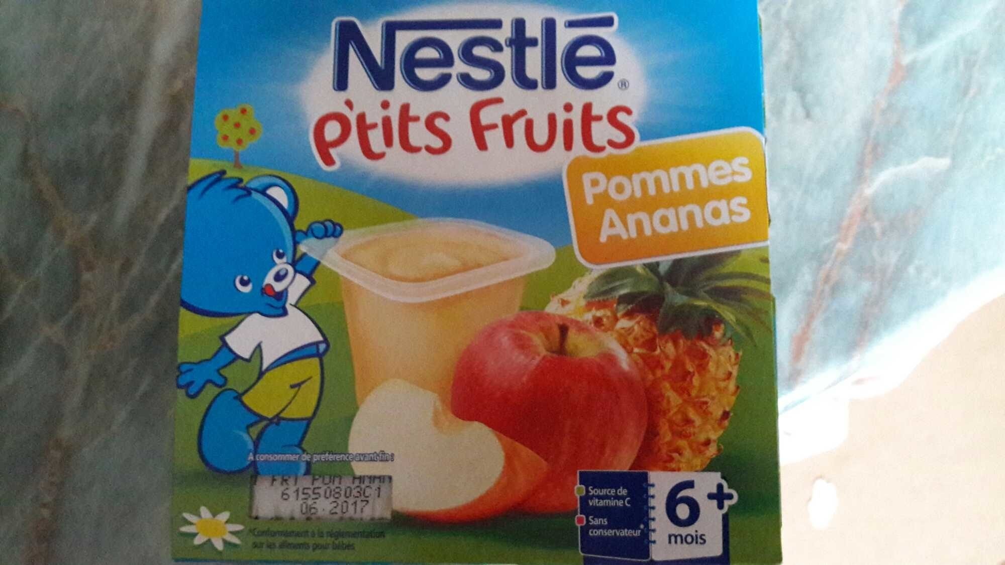 P'tits Fruits pommes ananas - Product