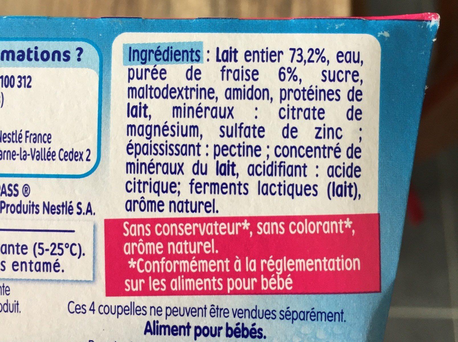 P'tit Brassé Fraise - Ingrédients - fr
