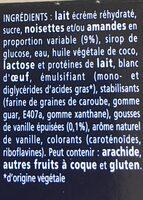 Le Mystère, Vanille de Madagascar Cœur meringue - Ingredients - fr