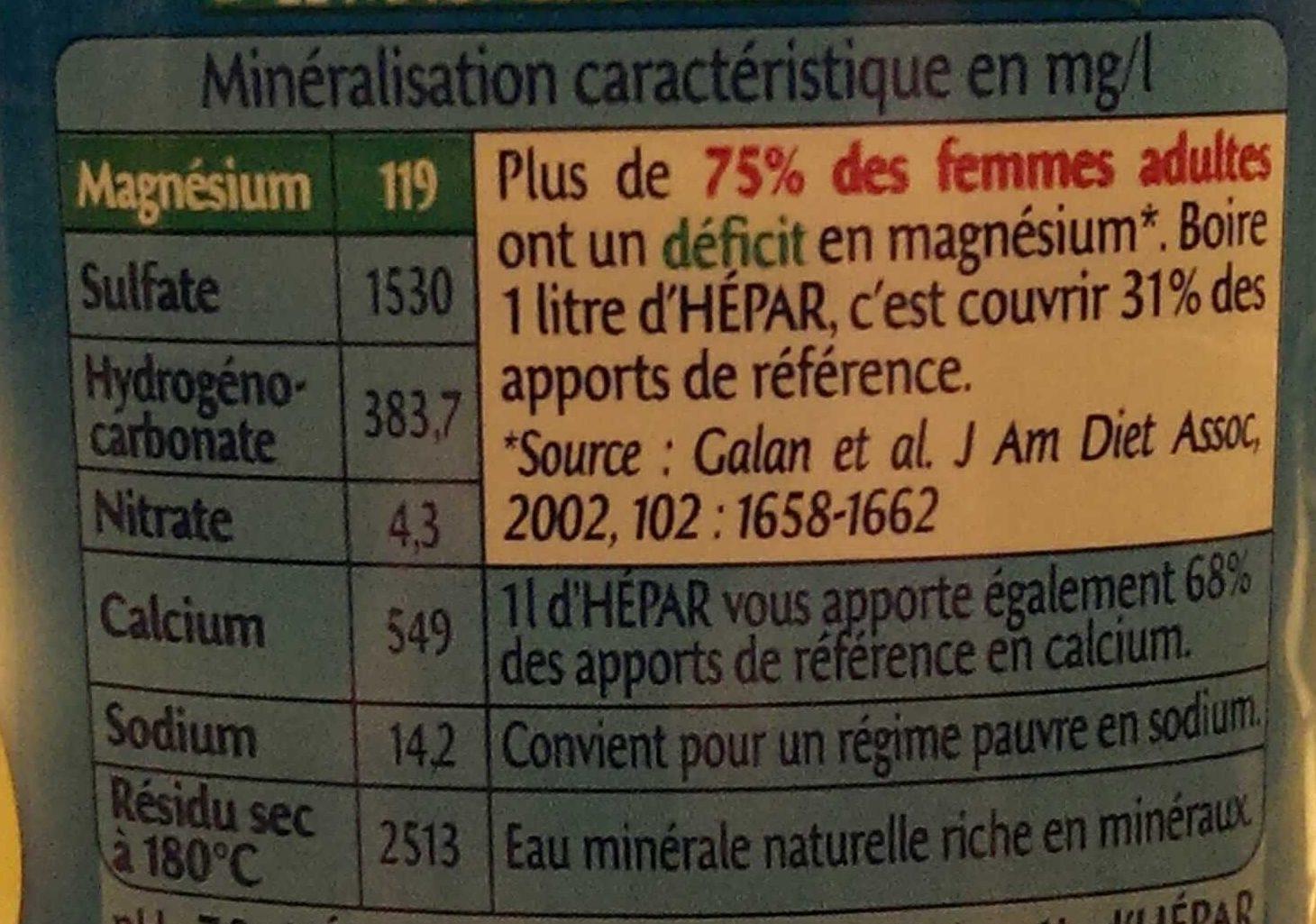 Hépar - Nutrition facts - fr