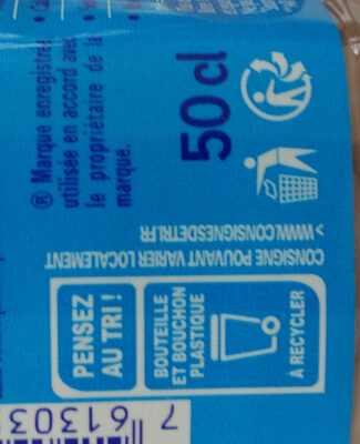 Hépar - Recycling instructions and/or packaging information - fr