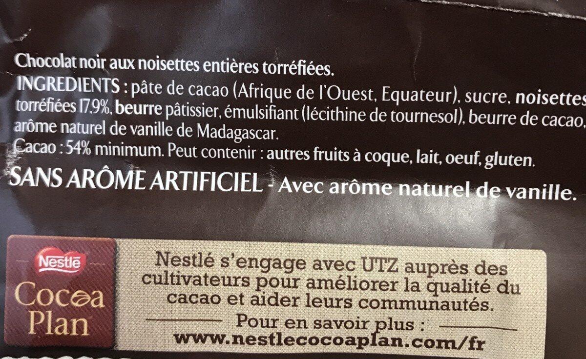 L'atelier noisette entières torréfiées - Ingrédients - fr