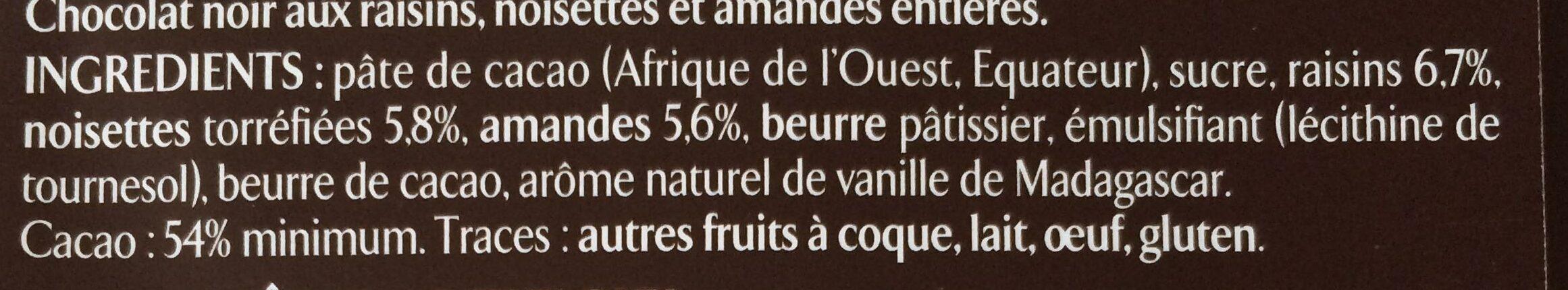 Les recettes de l'atelier raisins, amandes & noisettes - Ingrédients - fr