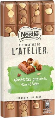 NESTLE L'ATELIER Chocolat au Lait Noisettes Entières Torréfiées - Prodotto - fr