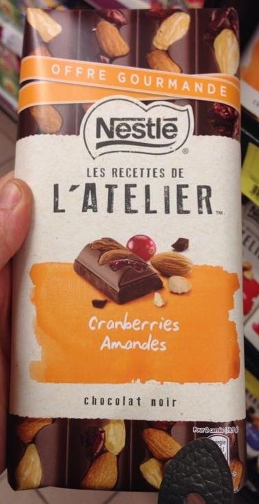 Chocolat noir Cranberries Amandes - Produit - fr