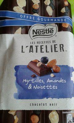 Les Recettes de l'Atelier - Chocolat Noir, Myrtilles, Amandes & Noisettes - Product