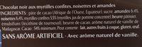 Les Recettes de l'Atelier - Chocolat Noir, Myrtilles, Amandes & Noisettes - Ingredients