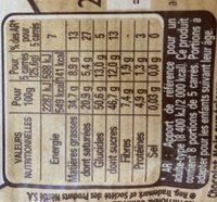 Chocolat Noir Dessert - Nutrition facts