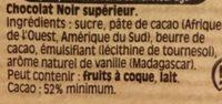 Dessert Noir - Ingredients - fr