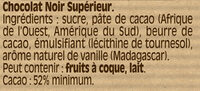 NESTLE DESSERT Chocolat Noir - Ingredients - fr