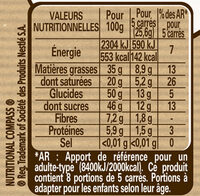 NESTLE DESSERT Chocolat Noir - Nutrition facts - fr