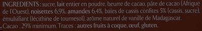 Les recettes de l'Atelier Cassis, Amandes & Noisettes - Ingrédients - fr