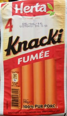 4 Knacki fumée - Product - fr